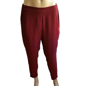 J Crew Factory Womens SZ 8 Red Drapey Pull On Pant